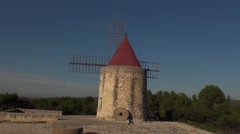 windmill in Provence - stock footage