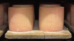 SWITZERLAND swiss cheese storage - cheese texture 9 Stock Footage
