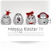 Stock Illustration of Set amusing eggs
