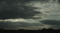 Wide angle time lapse shot of clouds evolving and swirling Stock Footage