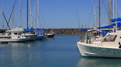 Sailboat Harbor on the Island of Guam Stock Footage