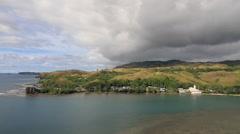 Beautiful Pan of Ferdinand Magellan's Landing Site in Umata, GUAM, USA Stock Footage
