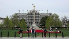 Eisenhower Executive Office Building Washington DC 4K 072 Stock Footage