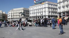 Sol Square, Puerta del Sol, Madrid Stock Footage