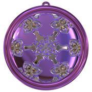 Jewelled metal orb generated texture Stock Illustration