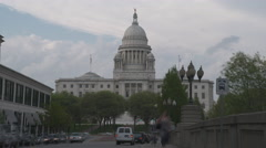 Rhode Island State House Timelapse Stock Footage
