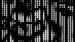 VJ Loop - Black and white diamond columns scrolling randomly Stock Footage