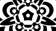 VJ Loop - Hypnotic black and white psychedelic morphing flower - stock footage