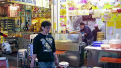 HONG KONG, CHINA - Employees working in the kitchen Stock Footage