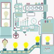 Industry creativity - stock illustration