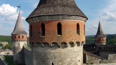 Medieval fortress (Aerial shot) Stock Footage