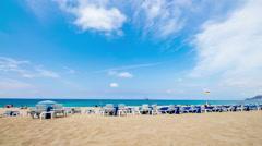 Cleopatra beach Alanya Turkey Stock Footage