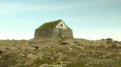 Stock Video Footage of Ancient Shack in ICELAND