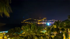 Alanya town. Turkey. Alanya Castle in night time. Stock Footage