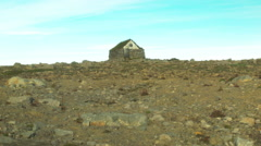 Emergency Shelter in Mountains of ICELAND Stock Footage