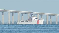 Stock Video Footage of 4K US Coast Guard Cutter on Tampa Bay 1