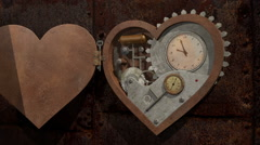 Looping Steampunk Heart - stock footage