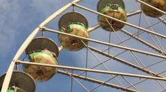 Ferris wheel detail Stock Footage