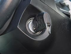 Car Key in the Ignition - stock photo