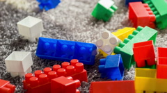 Stock Video Footage of Colorful building set for children