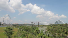 Panorama of Gardens by the Bay, Singapore Stock Footage