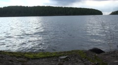 Russia, Karelia, Valaam island, Nature, Forest, sky stone static Stock Footage