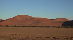 The Namib Dessert (Sossusvlei, Namibia) Stock Footage