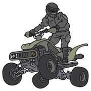 Rider on the ATV - stock illustration