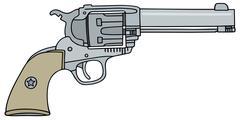 Old american revolver Stock Illustration