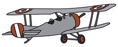 Vintage biplane - stock illustration