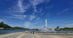 Pittsburgh Fountain at The Point Stock Footage