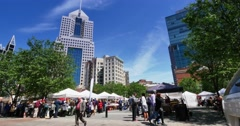 Pittsburgh Market Square Festival Stock Footage