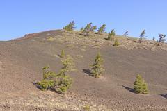 Barren Landscape on a Volcanic Cinder Cone - stock photo