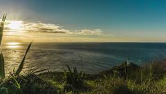 Timelapse looking north at New Zealand's Cape Reinga Stock Footage