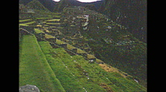 Vintage 16mm film, 1960, Machu Picchu, terraces Stock Footage