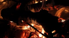 fire and flames - burning wood / bonfire - stock footage