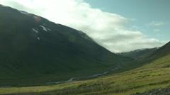 Mountain Valley near AKUREYRI, ICELAND Stock Footage