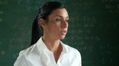 Close up of teacher teaching math Stock Footage