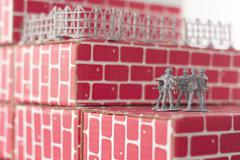 Army Men Impossible Odds - stock photo