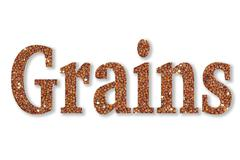 Text Grains Stock Illustration