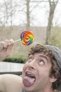 Silly Lollipop Stock Photos