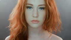 Red headed girl Stock Footage