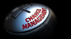 Stock Illustration of Change Management. Gear Lever. Control Concept