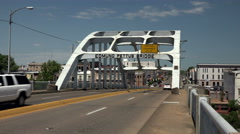 Edmund Pettus Bridge In Selma, Alabama Stock Footage