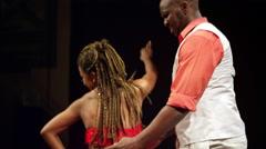 Brazilian Salsa Dancing in full costume - stock footage
