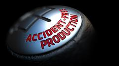 Accident-Free Production on Cars Shift Knob - stock illustration