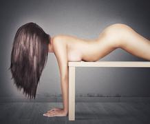 Femininity on a table - stock photo