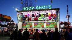 Basketball shooting game for winning animal doll Stock Footage