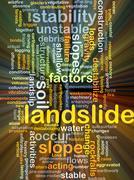 Landslide background concept glowing Stock Illustration