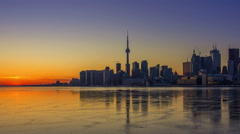 Timelapse of the Sunset in Toronto Stock Footage